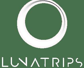 Lunatrips logo white transparent