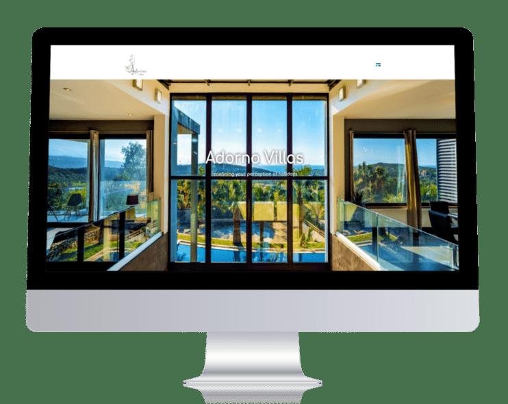 ennovate digital agency - adorno villas website pc laptop screenshot 001