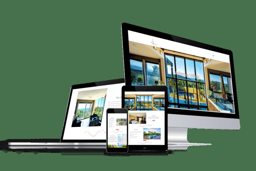 ennovate digital agency - adorno villas website screenshot devices 01