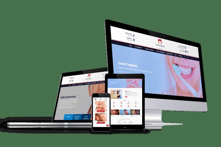 ennovate digital agency - mavrogenis dental clinic website devices screenshot 01