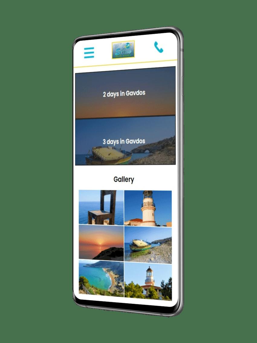 ennovate digital agency - selino travel website mobile screenshot 04