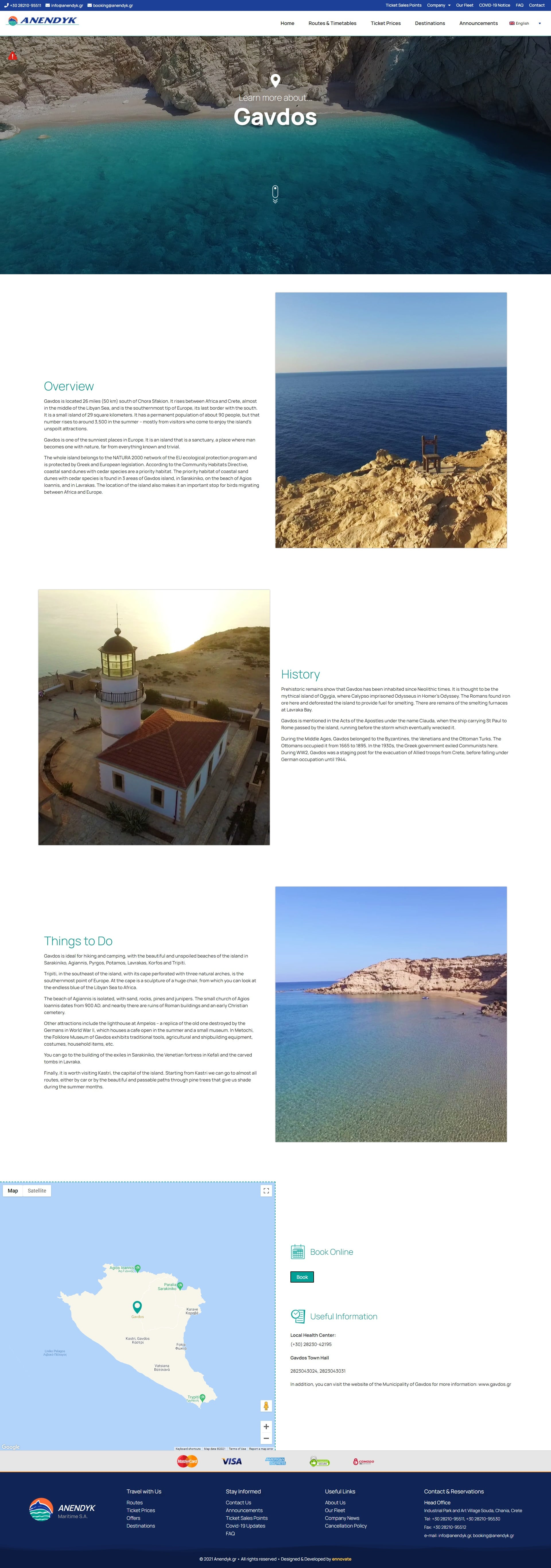 ANENDYK - DESTINATIONS - GAVDOS PAGE